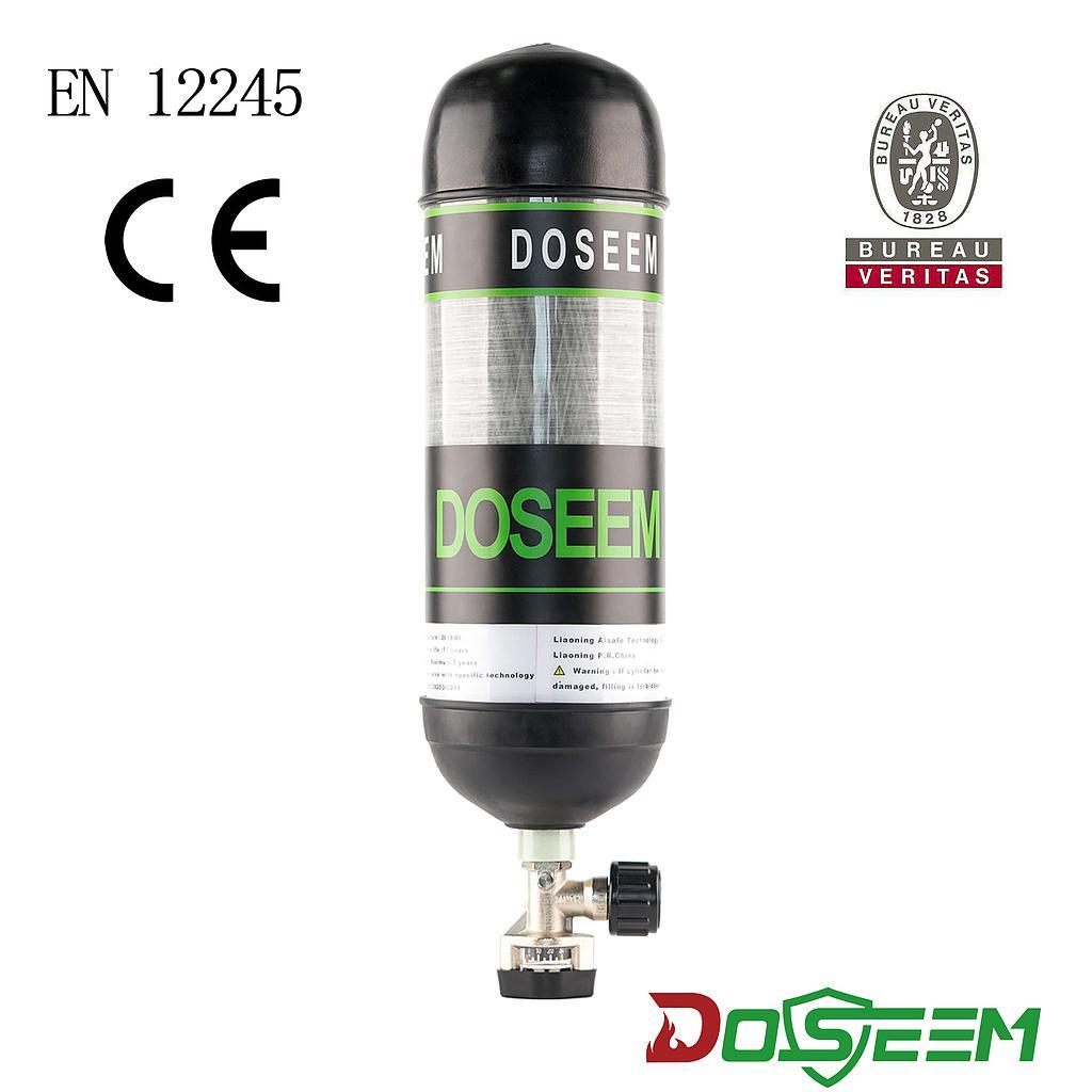 DOSEEM 9L Air cylinder (CE) & Pressure gauge cylinder valve KHF-30SA