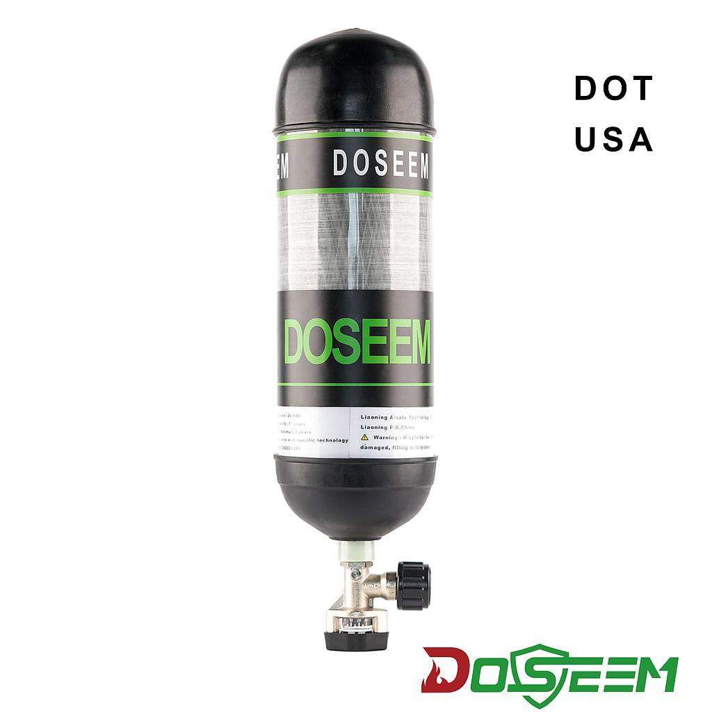 DOSEEM 9L Air cylinder (DOT) & Pressure gauge cylinder valve KHF-30SA