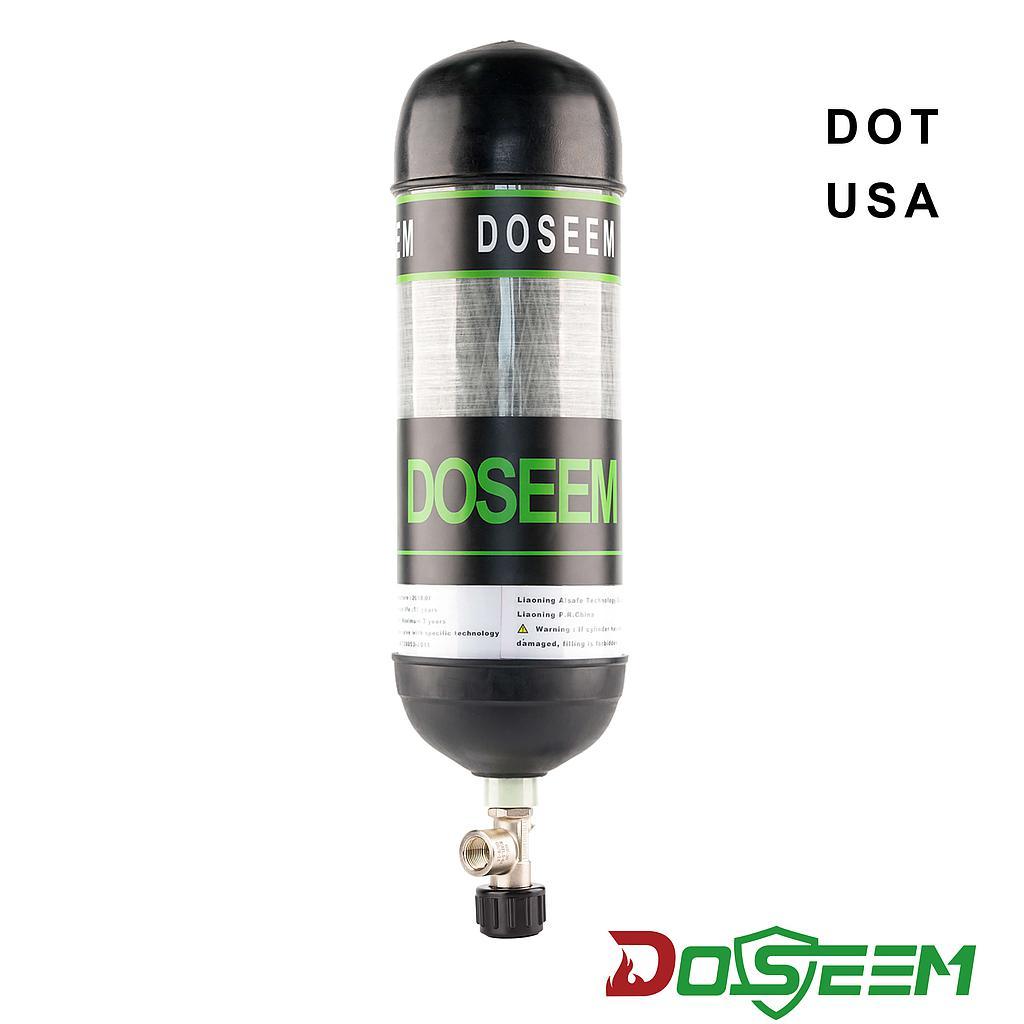 DOSEEM 9L Air cylinder (DOT) & Self-locking cylinder valve KHF-30