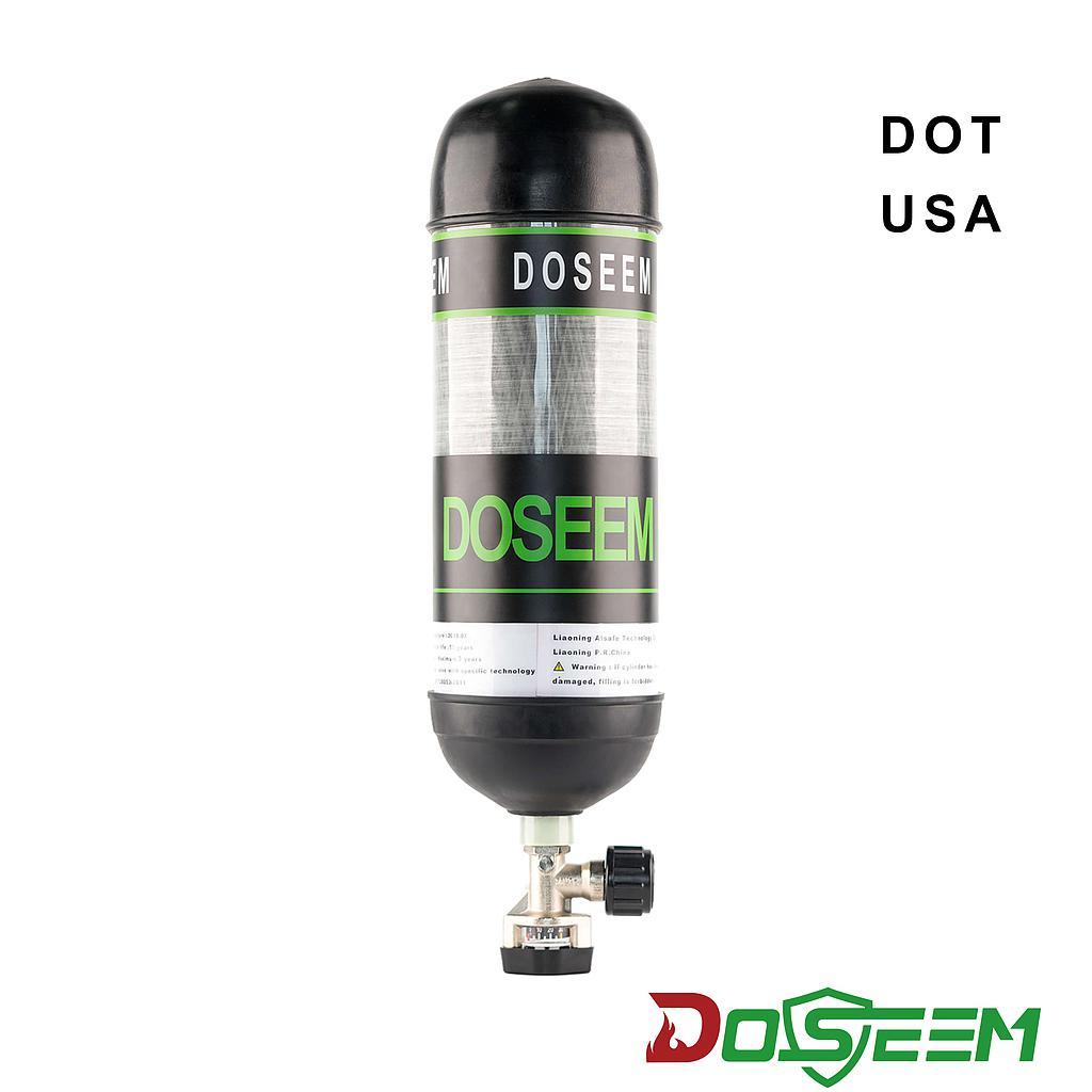 DOSEEM 6.8L Air cylinder (DOT) & Pressure gauge cylinder valve KHF-30SA